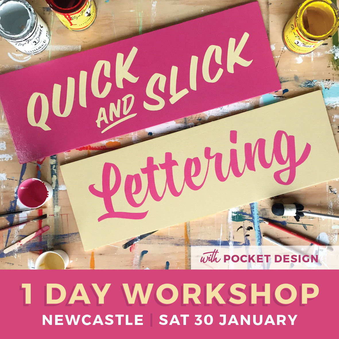 Pocket Design Signwriting Workshop