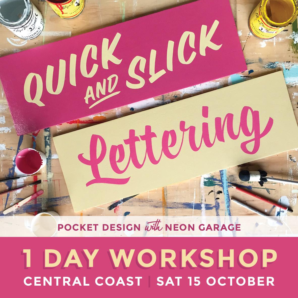 Pocket Design Quick and Slick Lettering Workshop