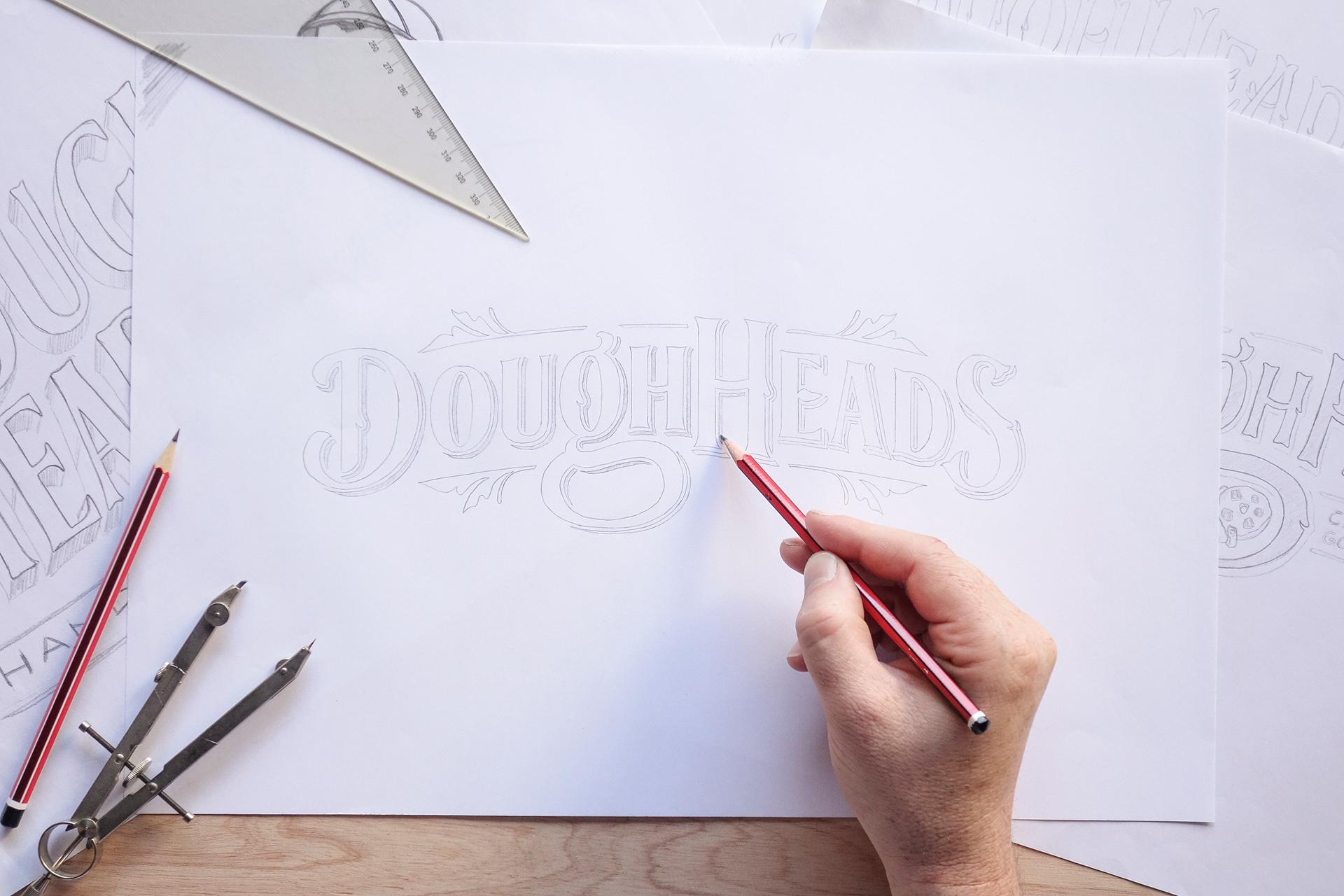 Pocket Design. Doughheads Branding Design