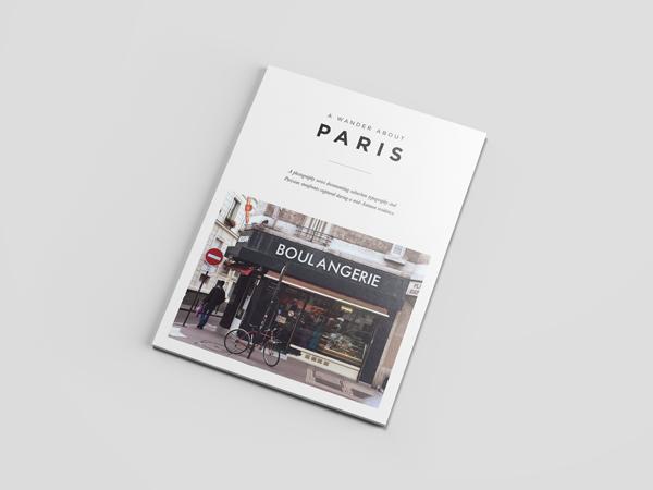 Pocket Design Shop. A Wander About Paris. Typography study.