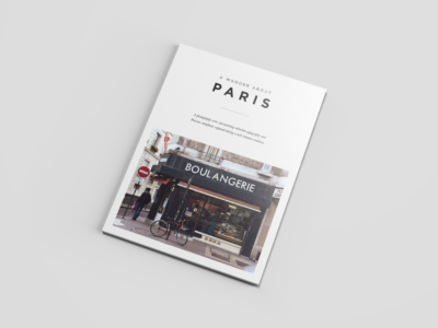 Pocket Design Shop. A Wander About Paris. Typography study.