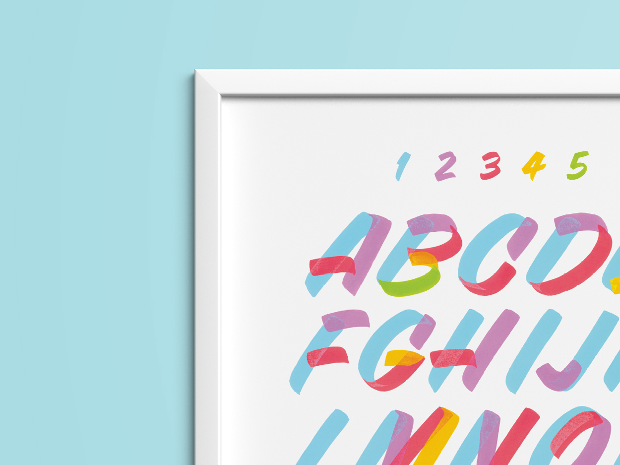 Pocket Design Shop - Casual Lettering Poster