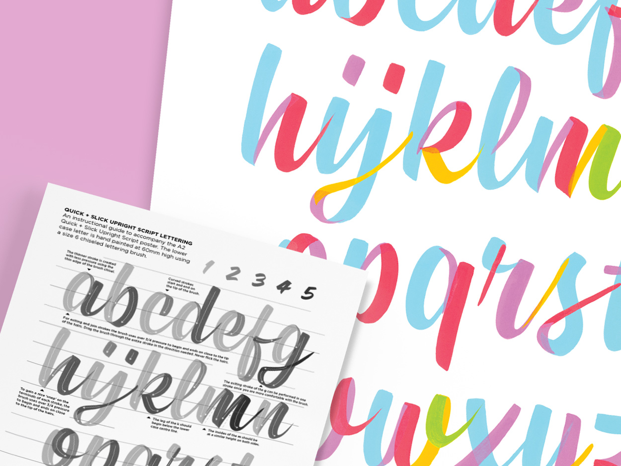 Pocket Design Shop - Script Lettering Poster