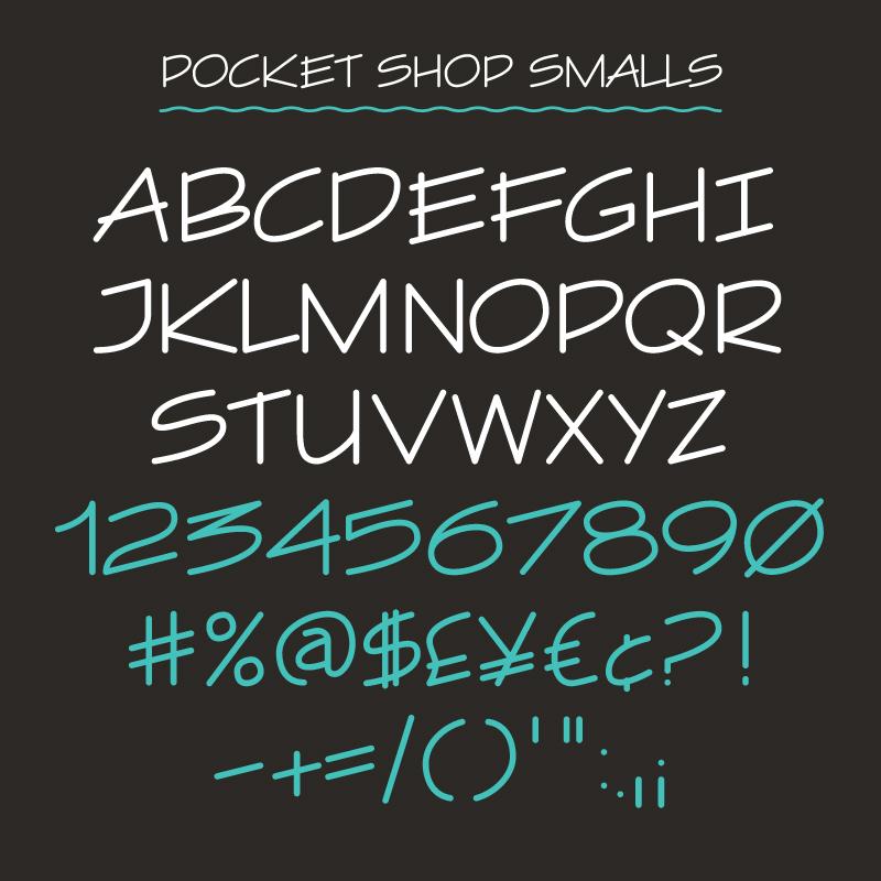 Pocket Design. Pocket Shop Signwriting and Showcard Font Pack.